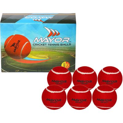 Mayor Street Cricket Tennis Ball (125 g) - Pack of 6