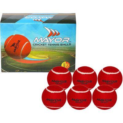 Mayor Street Cricket Tennis Ball (125 g) - Pack of 6