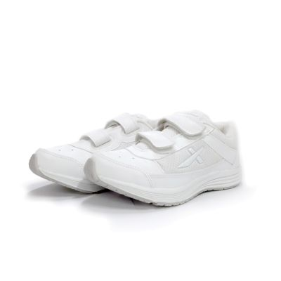 Vector-X Velcro School Shoe - 3Y To 5Y - White