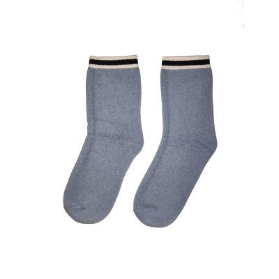 GOL Blue Melange Semi Crew Socks - CBSE (Pack of 1)