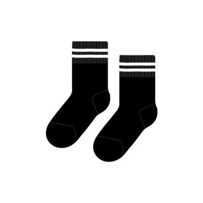 TCIS Ankle Sock (Nursery - 10th std) - Black with White Ring (Pack of 2)