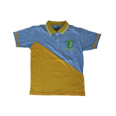GCIS House Color T-Shirt (I To XII) - Grey & Yellow (Size 38 To 48)