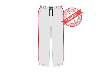 GCIS House Color Track Pant (I To XII) - Grey & Red (Size 38 To 48)