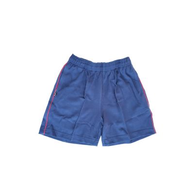 GCIS Junior Short (Nursery To UKG) - Navy Blue & Red (Size 30)