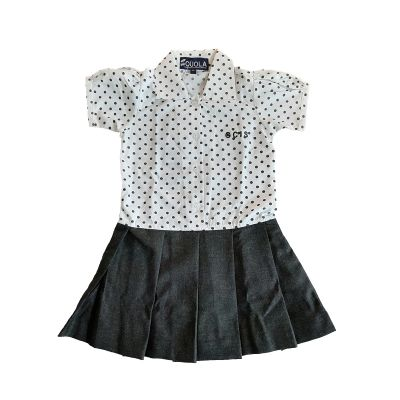 GCIS Formal Tunic (Nursery To UKG) - White & Grey (Size 22 To 28)