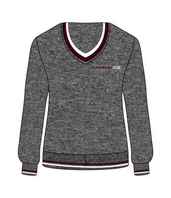 Sri Kumaran Full Sleeve Sweaters ICSE - Grey (Size 22 To 32)