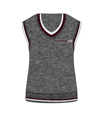 Sri Kumaran Sleeveless Sweaters ICSE - Grey (Size 22 To 32)