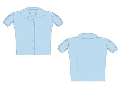 Sri Kumaran Formal Girls Puffed Sleeve Shirt ICSE - Light Blue (Size 24 To 28)