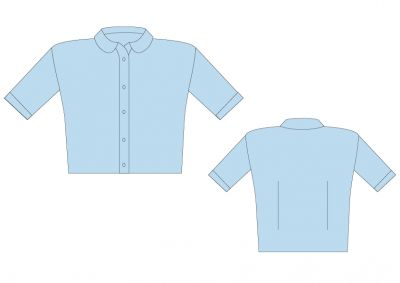 Sri Kumaran Formal Girls Half Sleeve Shirt ICSE - Light Blue (Size 34 To 36)