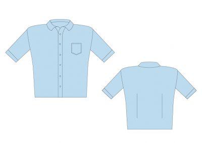 Sri Kumaran Formal Boys Half Sleeve Shirt ICSE - Light Blue (Size 20 To 28)