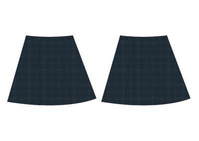 Sri Kumaran Formal Regual Skirt ICSE - Grey (Size 17*26 To 17*33)