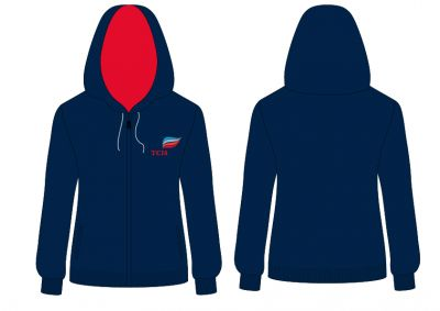 TCIS Formal Sweatshirt (Nursery - 10th std) - Navy Blue (Size 38 to 50)