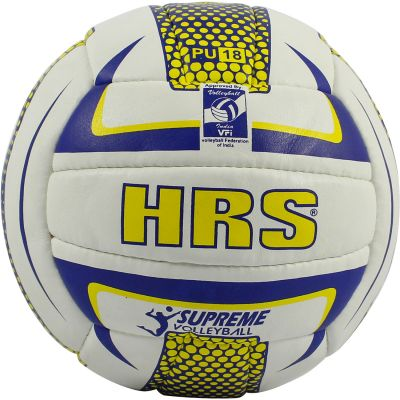 HRS Supreme P.U Volleyball - White & Blue